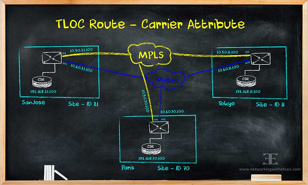 TLOC Route - Carrier Attribute