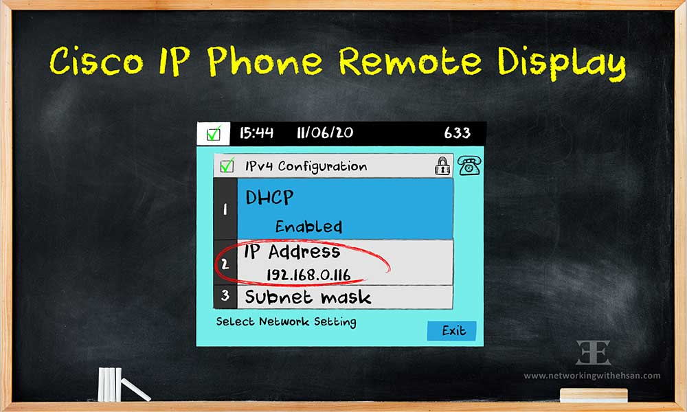 How to see cisco IP phone display remotely!
